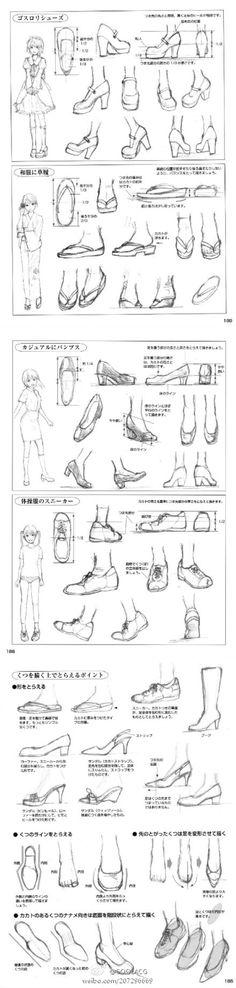 各种鞋子画法/ - 堆糖 发现生活_收集美好_分享图片