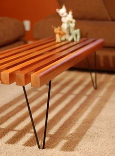 Marvelous Slat Bench Coffee Table PRICE REDUCED By Thelittleprints On Etsy