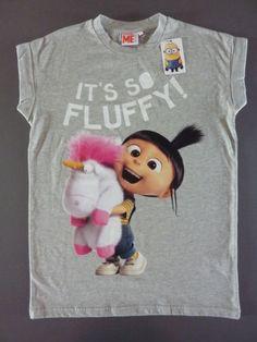 NEU-Primark-Minion-Agnes-Einhorn-T-Shirt-Minions-34-46-Unicorn-Grau-XS-S-M-L