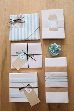 Gift Wrap Ideas- coordinating colors #giftwrap #wrappingideas