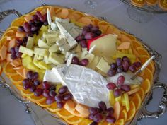 Good cheese and a glass of wine.  Soup to Nuts Caterers