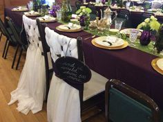 The weave on the chairs was bride and groom...