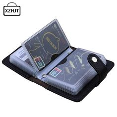 Card & Id Holders Professional Sale Women Men Credit Card Holder Pu Leather Hasp Unisex Id Holders Package Organizer Manager