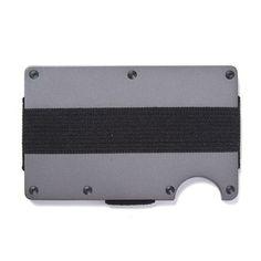 Ridge Wallet Titanium Wallet + Cash Strap