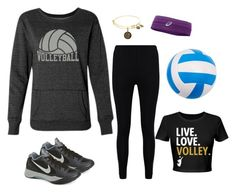A fashion look from October 2016 featuring shirt top, sports pants and lightweight shoes. Browse and shop related looks. Volleyball Live, Sport Pants, Asics, Boohoo, Fashion Looks, Nike, Sports, Polyvore, Shopping