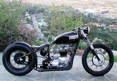 Ian Barry motorcycle (pre- Falcon Motorcycles) Custom Triumph bobber motorcycle, built by Ian Barry before he went to Falcon Motorcycles.
