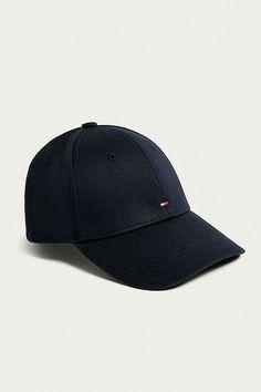 24e4d18723e Tommy hilfiger baseball cap men s black big flag logo cotton authentic new
