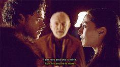 Richard Madden as Robb Stark and Oona Chaplin as Talisa Stark