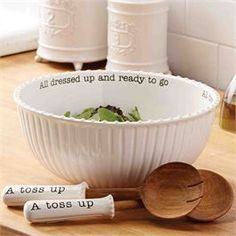 Circa Salad Bowl Set | Living | Mud Pie