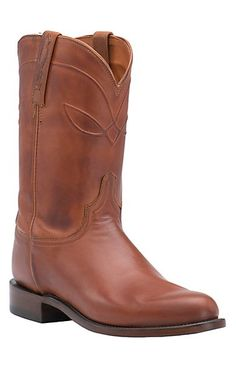 8bf08639a4a Lucchese 1883 Men s Cognac Burnished Ranch Hand Roper Boot