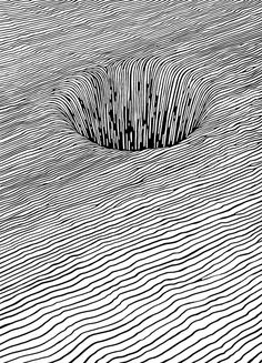 Pen and Ink drawing - op art Op Art, Drawn Art, Art Graphique, Elements Of Art, Design Elements, Art Plastique, Teaching Art, Optical Illusions, Doodle Art