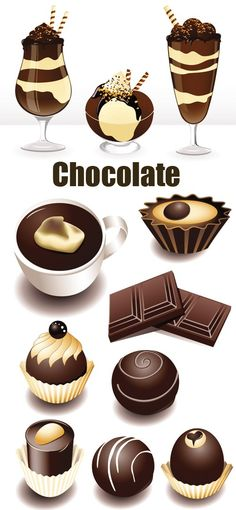 09-12-2012: Stock Vectors – Chocolate Mix #vector