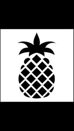 Pineapple diy wall art stencil