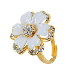 Cape jasmine spends forefinger ring ring female lovely vogue acts the role of flower wet person arti...