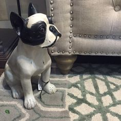 Charming accessories like this little guy are always coming through our doors. What's your favorite kind of accessory?{Down To Earth}  #downtoearthhome #gardnervillage #homeaccessories #homeaccents #home #homedecor #interiordesign #interiorstyle #dog #interior_design