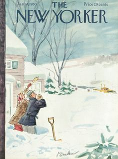 The New Yorker - Saturday, January 14, 1950 - Issue # 1300 - Vol. 25 - N° 47 - Cover by : Perry Barlow