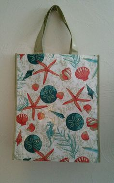 Nautical Shopping Tote Bag Reusable NEW #Nantucket