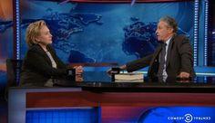 WATCH: Hillary Clinton rebuffs Jon Stewart on Israeli-Palestinian conflict - Video