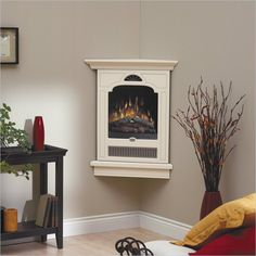 Very Small Corner Electric Fireplace For Home Decor Picture 06  Small Electric Fireplaces