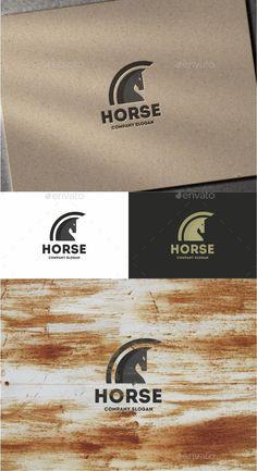 Horse Logo Template #design #logotype Download: http://graphicriver.net/item/horse/12040946?ref=ksioks