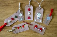 Inspired!: HOMEMADE GIFT TAGS