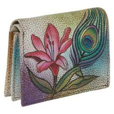 Anuschka Credit and Business Card Holder - Premium Peacock Flower (Premium Anuschka. $45.00