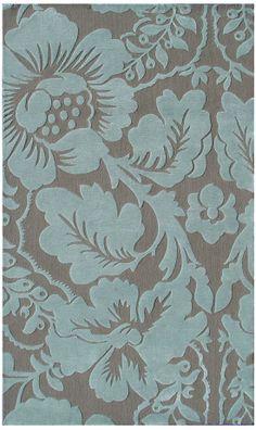 teal+srea+rugs | The Rug Market Rexford Sebastian Aqua 44326 Teal and Taupe Area Rug ...