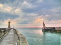 Fécamp on the Normandy Coast. A beautiful coastal town.