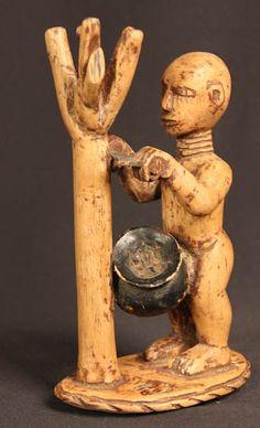 Arte Tribal Tesoros Artefactos Escultura de Madera # 532
