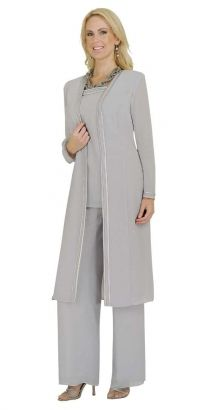 Misty Lane, Pants Suit, Benmarc, Silver, Style 13062