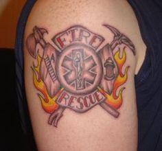 Fireman Tattoo...nice!                                                                                                                                                                                 More
