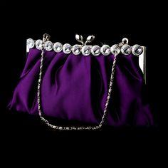 Older sister Vio always loved purple things. satin evening bag