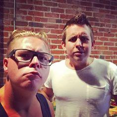 """Hanging out with Erik the """"Shrek""""!#showday #denver #fia"""