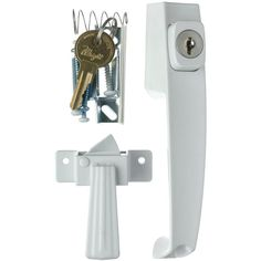 Wright Products 1-3/4 in. White Push-Button Keyed Latch  Model VK333X3WH #Wright