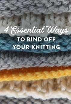 Why You Should Make This Bind Off Your New BFF The way you bind off (or cast off) can add a fabulous finishing touch to your knitting that will give you another reason to look forward to that last row. Lean how to bind off four different ways! Casting Off Knitting, Bind Off Knitting, Knitting Basics, Knitting Help, Loom Knitting, Knitting Stitches, Knitting Needles, Knitting Tutorials, Knitting Ideas