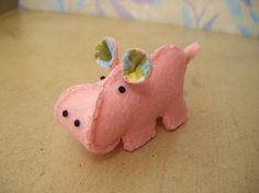 I love making little felt monsters- this little hippo guy is so cute and looks super easy to make