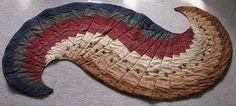 Long Winding Road Quilt Pattern Bargello   SPIRAL BARGELLO TABLE RUNNER