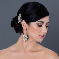 Vintage Filigree Bridal Hair Clip by Cheryl King Couture. http://perfectdetails.com/Blythe.htm