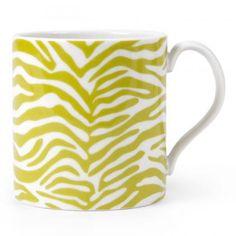 Jonathan Adler Carnaby Zebra Mug green