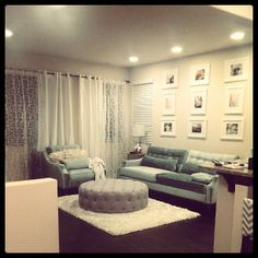 @Linda Hing's living room is coming together with a little help from our Harrison Sofa & Chair.