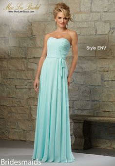 Dress Style ENV CHIFFON Matching Tie Sash. Available in All Mori lee Bridesmaids Chiffon Colors