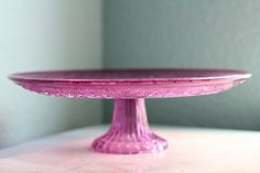 Vintage cake stand- Lovely purple Cake Stand Decor, Cake Pop Stands, Vintage Cake Stands, Pedestal Cake Stand, Glass Cakes, Plate Stands, Party Accessories, Cake Plates, Decoration