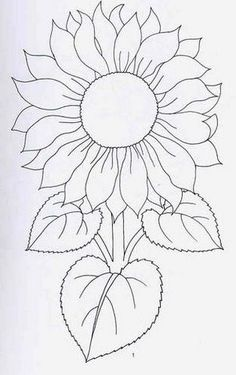 New Ideas Embroidery Sunflower Pattern Design – Handstickerei Hand Embroidery Patterns, Applique Patterns, Flower Patterns, Embroidery Stitches, Embroidery Designs, Flower Designs, Stained Glass Patterns, Mosaic Patterns, Painting Patterns