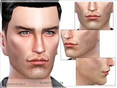 Beard Style 14 by Serpentrogue at TSR • Sims 4 Updates