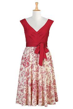 Floral print cotton poplin dress from eshaki.com