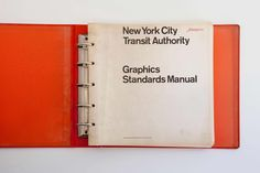 Massimo Vignelli and Bob Noorda of Unimark International to designed the iconic visual identity of the NYC subway documented in the 1970 New York City Transit Authority Graphic Standards Manual. Corporate Design, Business Design, Corporate Identity, Visual Identity, Brand Identity, New York Subway, Nyc Subway, Subway Map, Vintage Graphic Design