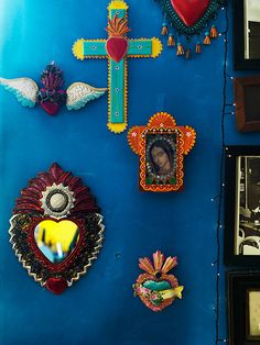 Love these decorative tin shrines