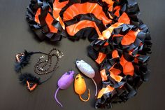 Halloween Cat Costume, Halloween Tutu set, Cat costume Halloween, Cat costume, Black Orange Cat Costume, Cat themed tutu set Orange cat tutu