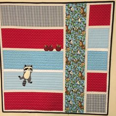 ~Thank you so much for visiting our etsy store!~   This is the pattern only.   Raccoon Baby Quilt Pattern   We are pleased to offer this cute pattern by Ellen Abshier of Laugh Sew Quilt One irresistible raccoon, dangling from the quilt sashing, on his way to the apples a few rows up.  Finished quilt is 42x42 inches square. This pattern is new in the package from the manufacturer and comes to you from my smoke free/pet free studio.    Im always happy to combine shipping!! Feel free to con...