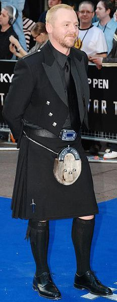 Simon Pegg in a kilt, how can you not love it :)